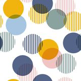 Vector seamless pattern. Colorful Abstract background with round stock illustration