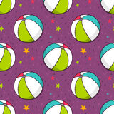 Vector seamless pattern with colorful balls Stock Photos