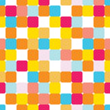Vector seamless pattern with colorful bricks Royalty Free Stock Photography