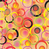 Vector seamless pattern with colorful bright rings on stained background Royalty Free Stock Photos