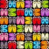 Vector seamless pattern with colorful bugs. royalty free stock images