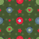 Vector seamless pattern with colorful christmas balls Stock Images