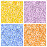 Vector Seamless Pattern colorful Clover Royalty Free Stock Images