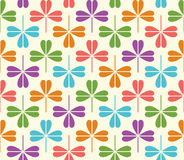 Vector seamless Pattern with colorful clover Royalty Free Stock Images