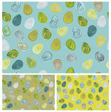 Vector seamless pattern, colorful eggs shapes for Easter design. Stock Images