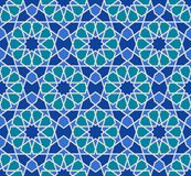 Vector seamless pattern. Colorful ethnic ornament. Arabesque style. Islamic art. Royalty Free Stock Photo