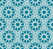 Vector seamless pattern. Colorful ethnic ornament. Arabesque style. Islamic art. Stock Image