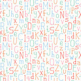 Vector seamless pattern of colorful hand drawn Stock Photography