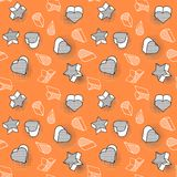 Vector seamless pattern, colorful pattern with 3d graphic stock illustration