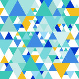 Vector Seamless Pattern with Colorful Triangles