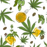 Hemp pattern stock illustration
