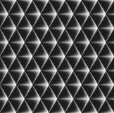 Vector seamless pattern of concave triangles with glowing edges. Stock Photography