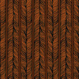 Vector Seamless Pattern consist of Plait. Hair Royalty Free Stock Photo