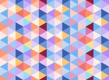 Colorful seamless pattern consisting of warm and cold colors triangles. Vector seamless pattern consisting of equilateral triangles in warm and cold colors royalty free illustration