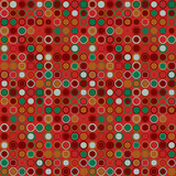 Vector seamless pattern. Consists of geometric elements arranged on red background.The elements have a round shape. Royalty Free Stock Images