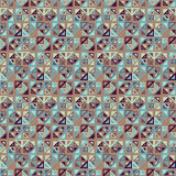 Vector seamless pattern. Consists of geometric elements on brown background. Royalty Free Stock Photo