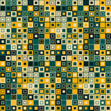 Vector seamless pattern. Consists of geometric elements.The elements have a square shape and different color. Royalty Free Stock Photos