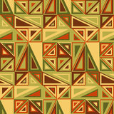 Vector seamless pattern. Consists of geometric elements.The elements have a triangular shape and different color. Stock Photo