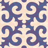Seamless Shyrdak Fleur de Lis Background Pattern Royalty Free Stock Images