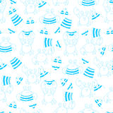 Vector seamless pattern with crabs Stock Photos