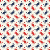 Vector seamless pattern with crabs. stock illustration