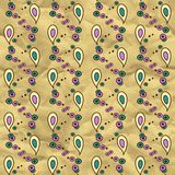 Vector seamless pattern on craft paper Stock Photography