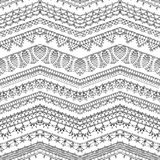 Vector seamless pattern of crochet lacy edges. Stock Photo