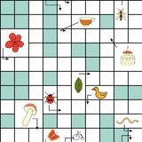 Vector seamless pattern with crossword puzzle stock illustration