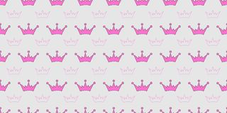 Vector seamless pattern with crowns of princess, queen, fairies. Scrapbook paper, wrapping paper Royalty Free Stock Photos