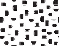 Vector seamless pattern of cups. Stock Photos