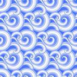 Vector seamless pattern with curls and swirls Royalty Free Stock Photo