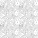 Vector seamless pattern, curved lines, 3D effect. Vector monochrome seamless pattern, curved lines, black & white layered texture. Abstract endless dynamical Royalty Free Stock Photography