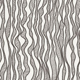 Vector seamless pattern of curves manually drawn lines Royalty Free Stock Photos