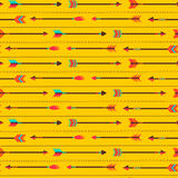 Vector seamless pattern with cute arrows Stock Images