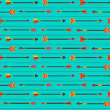 Vector seamless pattern with cute arrows Stock Image