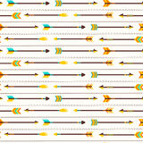 Vector seamless pattern with cute arrows Royalty Free Stock Photos