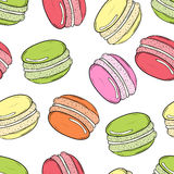 Vector seamless pattern with cute colorful macaroons vector illustration