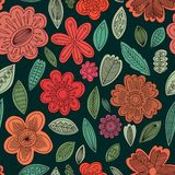 Vector seamless pattern of cute flowers.EPS10 Royalty Free Stock Photography