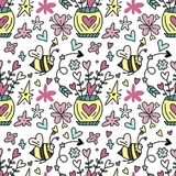 Love patterns stock illustration