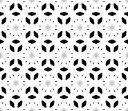 Vector seamless pattern, dark floral minimalist background Royalty Free Stock Photos