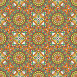 Vector seamless pattern with decorative elements. Geometric colorful pattern for printing Royalty Free Stock Photography