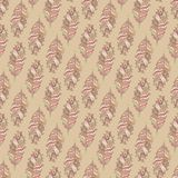 Vector Seamless pattern with decorative  featherŒ. Vector seamless pattern consist of decorative feather Stock Photography