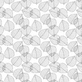 Vector seamless pattern. Decorative geometric leaves. Floral background with elegant botanical motif. Modern stylish Royalty Free Stock Photo