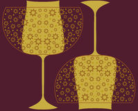 Vector seamless pattern with decorative glasses. Stock Images