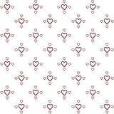 Vector seamless pattern of decorative hand drawing hearts in minimalist style royalty free illustration