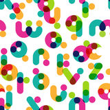 Vector seamless pattern with decorative latin alphabet stock illustration