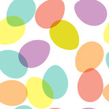 Vector seamless pattern with decorative oval shapes. Royalty Free Stock Photography