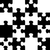 Vector seamless pattern. Decorative puzzle pattern. Stock Photo