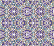 Vector seamless pattern. Decorative stylized flowers with leaves. Abstract background texture. Royalty Free Stock Photos