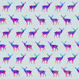 Vector seamless pattern with deers. Seamless pattern for Christmas wrapping paper designs Stock Photography